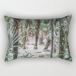Palm Trees in the Green Swamp Rectangular Pillow