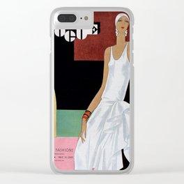 Vogue 1929 Clear iPhone Case