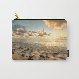 Sunset tropical beach Mauritius Carry-All Pouch