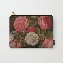 """Jacob van Hulsdonck """"Roses in a Glass Vase"""" Carry-All Pouch"""