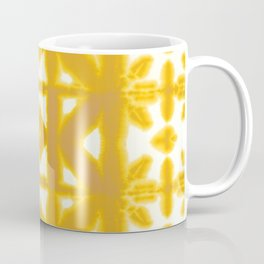 Yellow Pima Shibori Coffee Mug