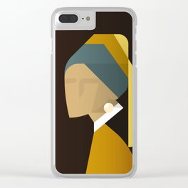 Painted Girls #3 Clear iPhone Case