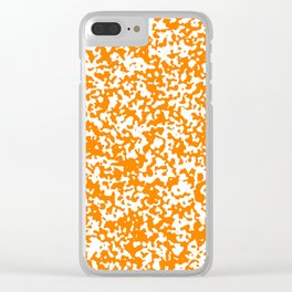 Small Spots - White and Orange Clear iPhone Case
