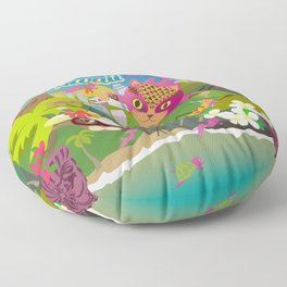 Mews in Hawaii Floor Pillow