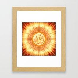 Lotos Om Framed Art Print