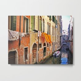 wash day in Venice Metal Print