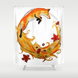 Circle of fox Shower Curtain