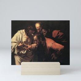 Michelangelo Merisi da Caravaggio - The Incredulity of Saint Thomas Mini Art Print