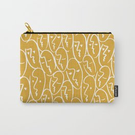 faces / mustard Carry-All Pouch