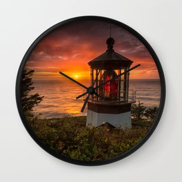 Cape Meares Lighthouse, Oregon Wall Clock