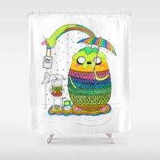Adventure time Totoro by Luna Portnoi Shower Curtain