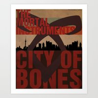 the mortal instruments Art Prints featuring The Mortal Instruments: City of Bones by thespngames