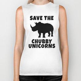 Save The Chubby Unicorns Biker Tank