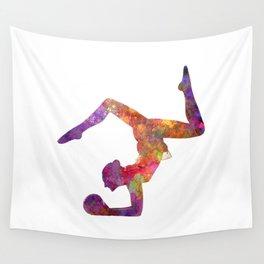 Rhythmoc Gymnastics woman silhouette Wall Tapestry