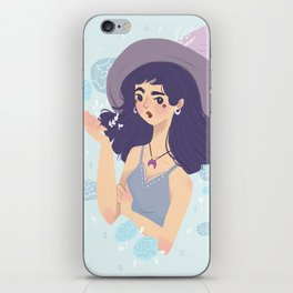 Witch of flowers iPhone Skin