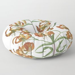 Plantae Selectae No. 11–Lily by Georg Dionysius Ehret Floor Pillow