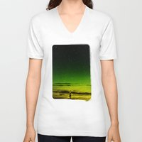 surfer V-neck T-shirts featuring Lost Surfer Star Series by Stoian Hitrov - Sto