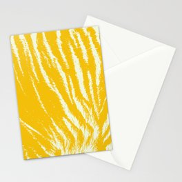 Tiger print Yellow Stationery Cards