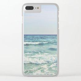 Ocean Crashing Waves Clear iPhone Case