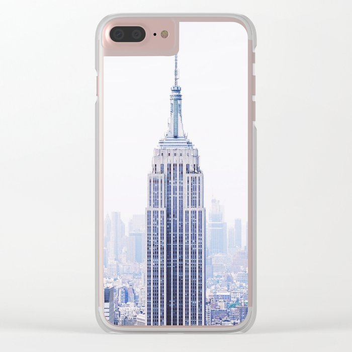 New York City - Manhattan Cityscape - Empire State Building Photograph Clear iPhone Case