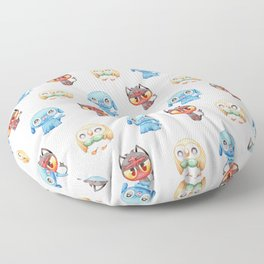 Rowlet, Litten and Popplio - Starters - Pocket Monsters Floor Pillow