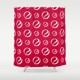 Foulard For You: Red and White Shower Curtain