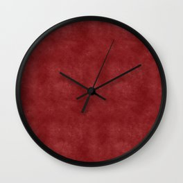 Crimson red washed distressed like vintage style design Wall Clock