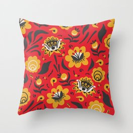 Russian Style Pattern 6 Throw Pillow