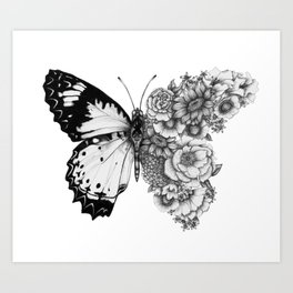 Butterfly in Bloom Art Print