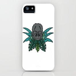 Gorilla in the Jungle (Harambe?) iPhone Case
