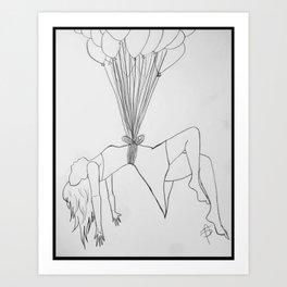 Floating Femme. Art Print