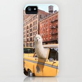 Alpaca in New York iPhone Case