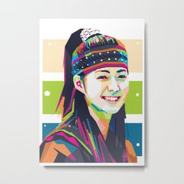 Lee yo won In Wpap Metal Print
