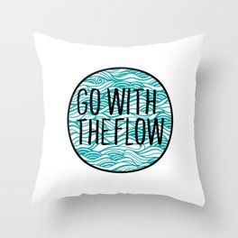 Go With The Flow Waves Throw Pillow