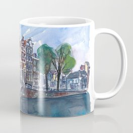 Amsterdam Netherlands Canal Sunset On Prinsengracht Coffee Mug