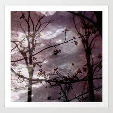 The wind is mauve Art Print