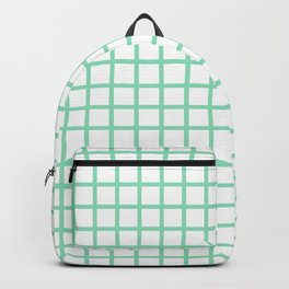 Grid (Mint & White Pattern) Backpack