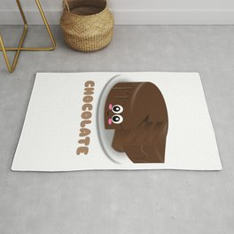 Chocolate Fix Everything Funny Chocolate Pun Rug