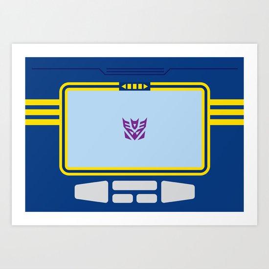 Soundwave Transformers Minimalist Art Print