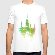 St Pauls Cathedral London Mens Fitted Tee MEDIUM White