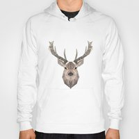 stag Hoodies featuring Stag by LydiaS