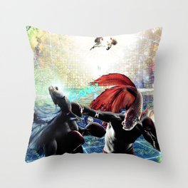 Jungle Gym of my Mind Throw Pillow