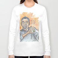 oitnb Long Sleeve T-shirts featuring Poussey OITNB by Ashley Rowe
