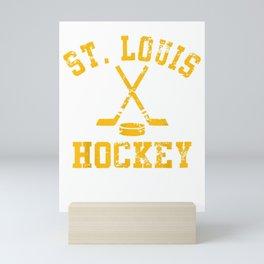 Vintage St. Louis Ice Hockey Sticks State Outile Tee Shirt Mini Art Print