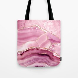 Pink Mermaid Marble  Tote Bag