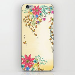 Vibrant Floral to Floral iPhone Skin