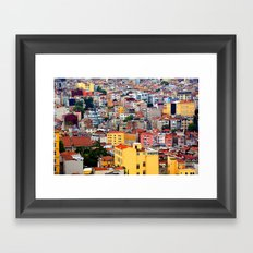 Istanbul, view from Galata Tower Framed Art Print