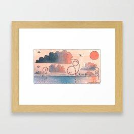 Clouds drink water Framed Art Print