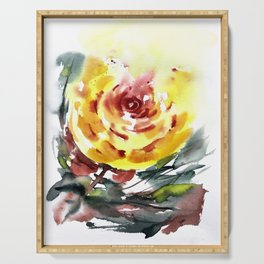 Yellow Rose for Evie Serving Tray