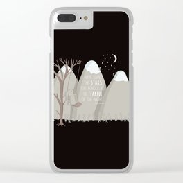 I have loved the stars too fondly to be fearful of the night Clear iPhone Case